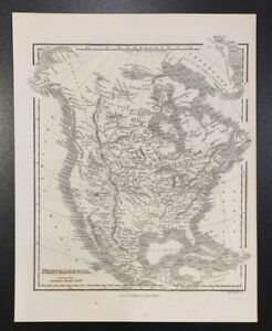 Samuel Walker North America Ca 1834 Map