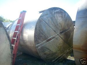 11437 016 2500 Gallon Vertical Stainless Steel Tank Open Top