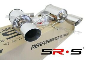 Srs Stainless Axleback Exhaust For 2015 2017 Ford Mustang Gt 5 0l V8 4 Tips