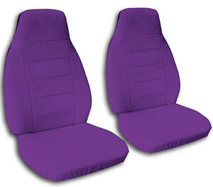 2 Front Universal Purple Seat Covers
