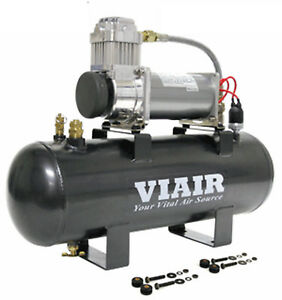Viair 20007 380c Compressor 200 Psi 2 Gal 12v On Board For Air Tools Horns Bags