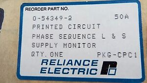 Reliance Electric 0 54349 2 Phase Sequencer L s Supply Monitor Sealed