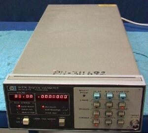Hewlett packard Hp 3437a System Voltmeter Hpib Interfac