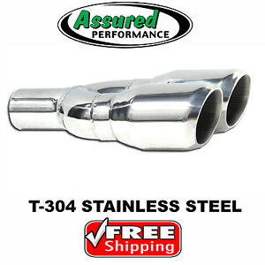 Double Walled Stainless Exhaust Tip For Ford Chevy Gmc Truck Silverado F150 2 25