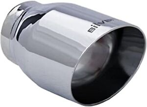 Stainless Steel Triple Chrome Dip Universal Exhaust Tip 2 50 Id 3 5 Od 5 5 L