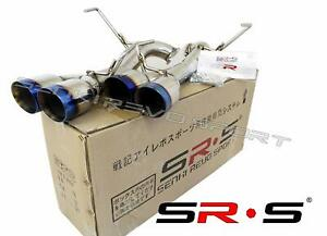Srs Axleback Exhaust Muffler Delete Burnt 3 5 Tips Dw For Subaru Wrx Sti 15 20