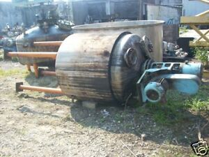 11437 041 300 Gallon Stainless Steel Jacketed Tank With Agitator