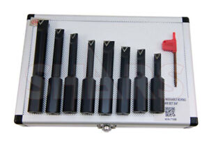 Shars 3 4 Shank 8 Pieces Indexable Boring Bar Set W Free Tcmt Inserts New
