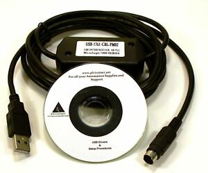 Allen Bradley Micrologix Cable Usb 1761 cbl pm02 For Use On All Micrologix Plc s