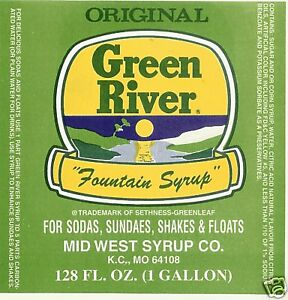 Green River Soda Fountain Syrup 4 Gallons