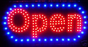 Ultra Bright Led Neon Light Animated Motion Open Business Sign L46