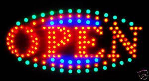 2019 Latest Ultra Bright Led Neon Light Animated Motion Open Business Sign L161