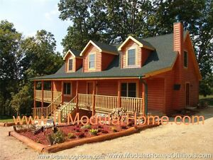 True Modular Log Home 2 353 Sf Only 263k Il And Wi