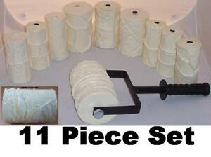 Concrete Cement Landscape Curbing Texture Imprint Machine 11 Roller Set New