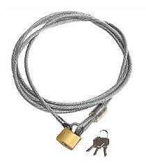 Car Security Cable And Lock Kit For Car Cover
