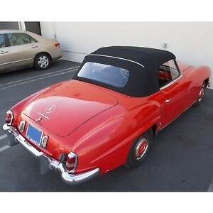 Mercedes Benz 190sl W121 1955 1963 Convertible Soft Top Black German Canvas