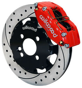 Wilwood Disc Brake Kit Front Mini Cooper Bmw 12 Drilled Rotors Red Calipers