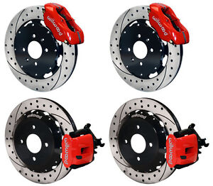 Wilwood Disc Brake Kit Honda Civic 262mm Red Drilled