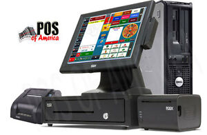 One Station Premium Restaurant Bar Retail Pos System With Amigo V8 Software New