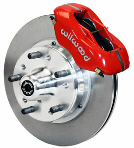 Wilwood Disc Brake Kit Front 87 93 Ford Mustang 11 Rotors Red Calipers