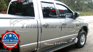 Fit 2002 2008 Dodge Ram Quad Cab crew Cab 4pc Pillar Post Stainless Steel Trim