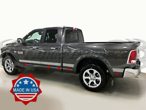 Fits 2009 2018 Dodge Ram Quad Cab 6 4 Short Bed W f Body Side Molding Trim U