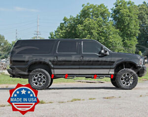 2000 2005 Ford Excursion 8pc Chrome Rocker Panel Trim 8 Stainless Steel No Clad