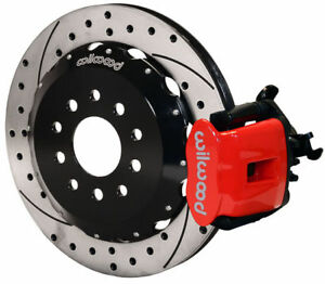Wilwood Disc Brake Kit rear Pb 2005 2014 Ford Mustang 13 red Calipers drilled