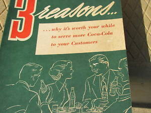 Coca Cola 1940's sales booklet