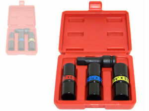 4 Pc 1 2 Dr Flip Lug Nut Impact Socket Back And Front Metric Sae Thin Wall Tool
