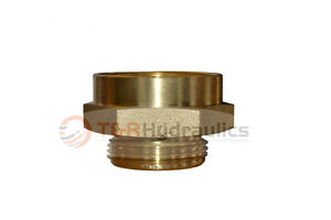 Fire Hydrant Brass Adapter 3 Fpt f X 2 1 2 Nst m