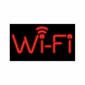 Wi fi Red Neon Sign Lighted Neon Business Signs Window Advertisement Display