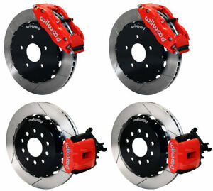 Wilwood Disc Brake Kit 2005 2014 Ford Mustang 14 13 Rotors red Calipers