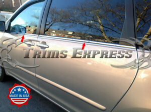Fit 2004 2010 Toyota Sienna 4pc Window Sill Trim Overlay Chrome Stainless Steel