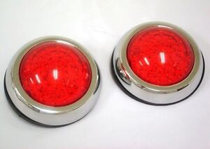 Flush Mount Led Round Street Rat Rod Tail Lights Ford Chevy Brake And Signal