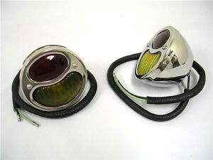 1928 1929 1930 1931 Model A Ford Car Polished Stainless Tail Lights Pair Rh Lh