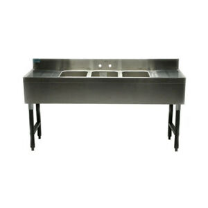 Stainless Steel Bar Sink 83 Three Compartment