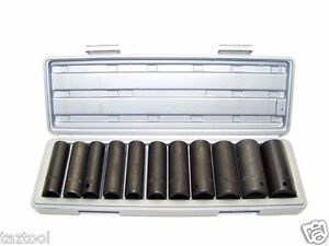 12 Pc 1 2 Dr Deep Impact Socket Set Metric 1 2in Drive Impact Wrench Sockets