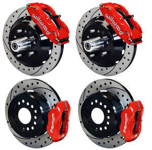 Wilwood Disc Brake Kit 70 73 Mustang 13 12 Red Drilld