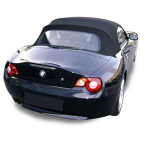 Bmw Z4 2003 2008 Convertible Soft Top Replacement Glass Window Black Stayfast