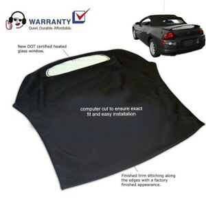 Mitsubishi Eclipse Spyder Convertible Top Glass Window 2000 05 Black Twill