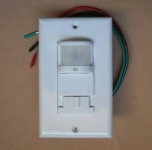 Occupancy 120v Wall Decora Motion Sensor Detector Switch White No Neutral Wire