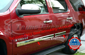 2007 2009 5 Chevy Tahoe Body Side Molding Trim Overlay 3 1 2 Stainless Steel