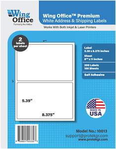 Po13 700 Sheets 1400 Label Pro Office Round Corner Self adhesive Shipping Label