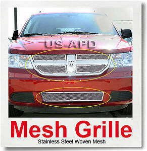 For 09 10 Dodge Journey Se Sxt R T Mesh Grille Combo