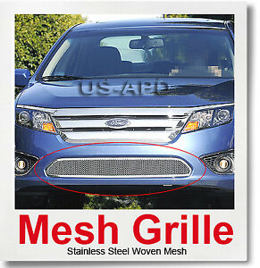 For 10 11 2011 Ford Fusion Bumper Stainless Mesh Grille