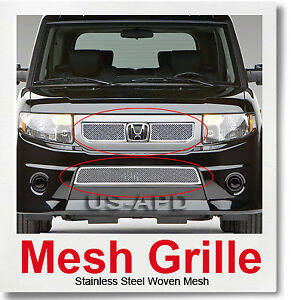 For 09 11 2011 Honda Element Stainless Mesh Grille Combo