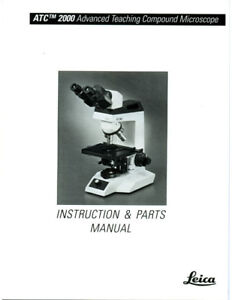 Leica Atc 2000 Microscope Instruction Manual And Brochures On Cd