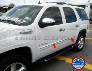 2007 2009 Chevy Tahoe 4pc Chrome Body Side Molding Trim Overlay Top 1 4pc