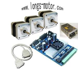3axis Nema 17 Stepper Motor 75 Oz in Driver Cnc Kit router New Cnc Hobby